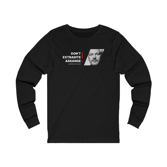 Don't Extradite Assange! (red) - Unisex Long Sleeve Tee