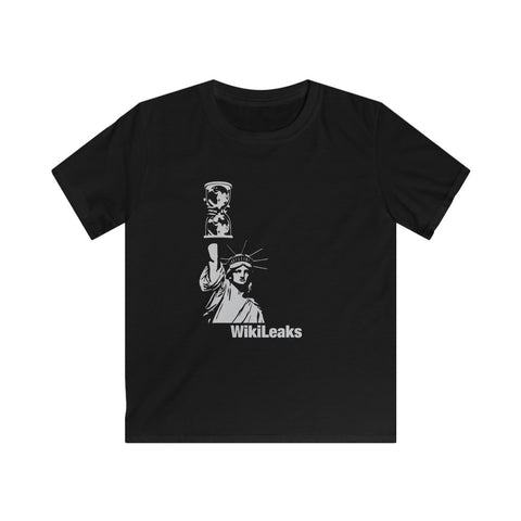 WikiLeaks Liberty - Kids Softstyle Tee