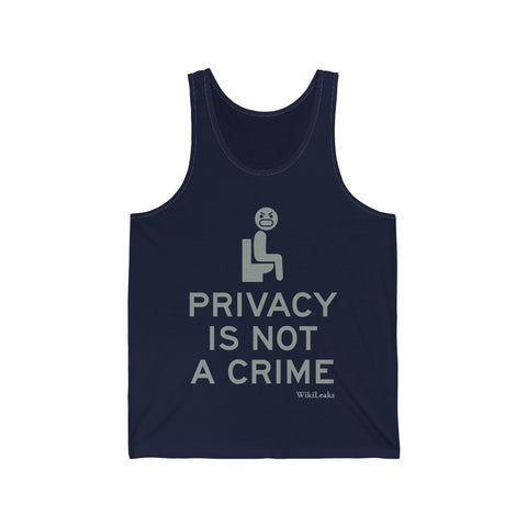 Privacy is Not a Crime - WikiLeaks - Unisex Jersey Tank