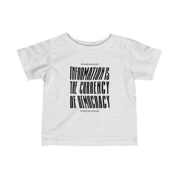 The Currency of Democracy (black text) - Infant Fine Jersey Tee