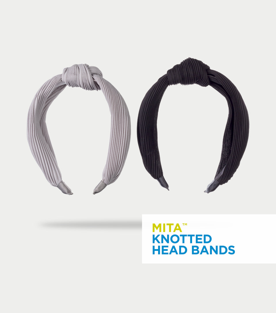 Knotted Headband Collection - Crinkled Chiffon Knotted Headbands (Pack of 2)