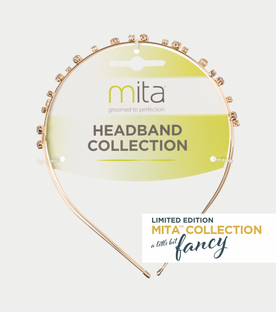 A Little Bit Fancy Collection - Gold Diamante Triple Row  Headband