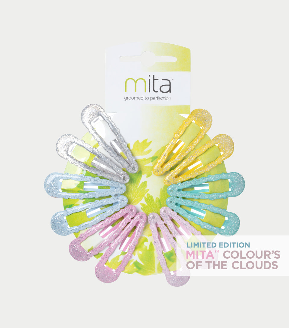 Colour's of the Clouds Collection - Pastel Cloud Hair Clips (Pack of 12)