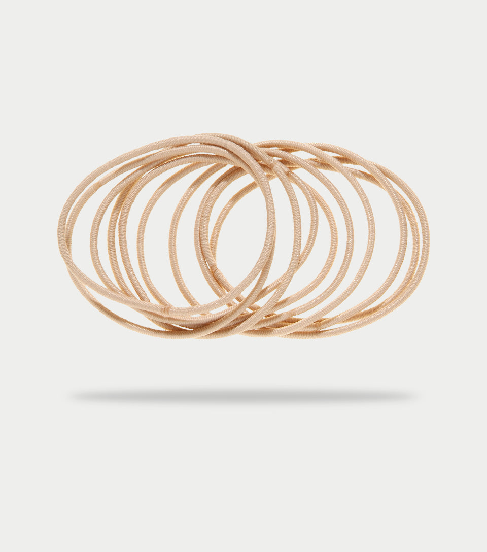Snag Free Elastics Thin Blonde (Pack of 28)