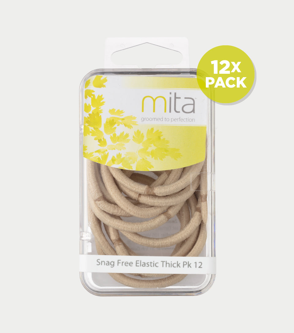 Snag Free Elastics Thick Blonde (Pack of 12)