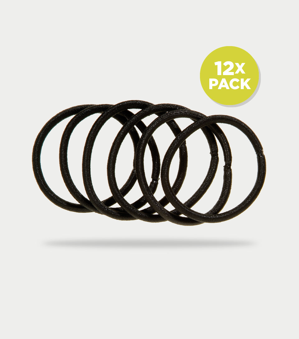 Snag Free Elastics Thick Black (Pack of 12)
