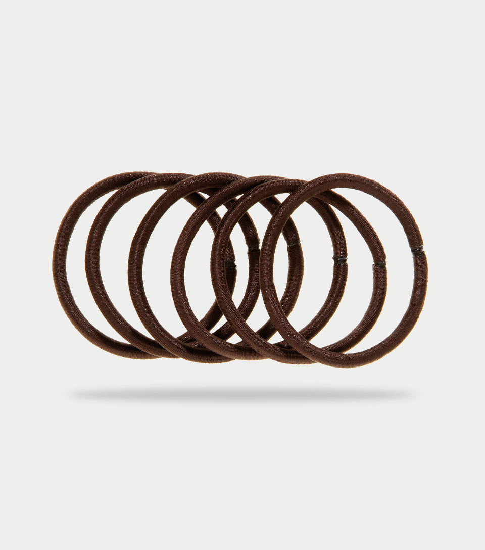 Snag Free Elastics Thick Brown (Pack of 12)