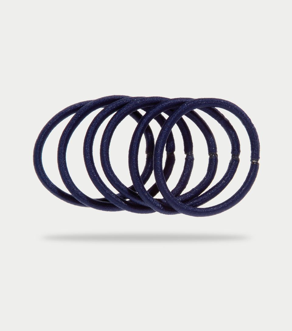Snag Free Elastics Thick Navy (Pack of 12)