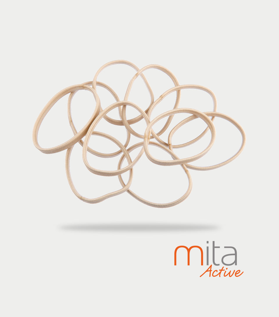 Mita Active Non Slip Elastics Thin/Thick Blonde (Pack of 10)