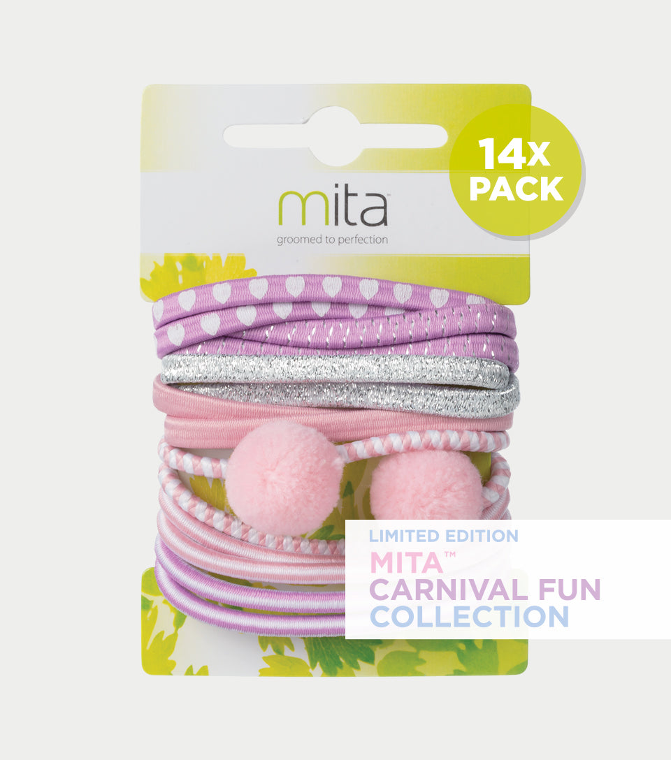 Carnival Fun Collection - Pom Pom Elastics (Pack of 14)