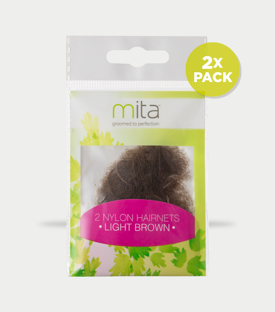 Hair Net Light Brown (Pack of 2)