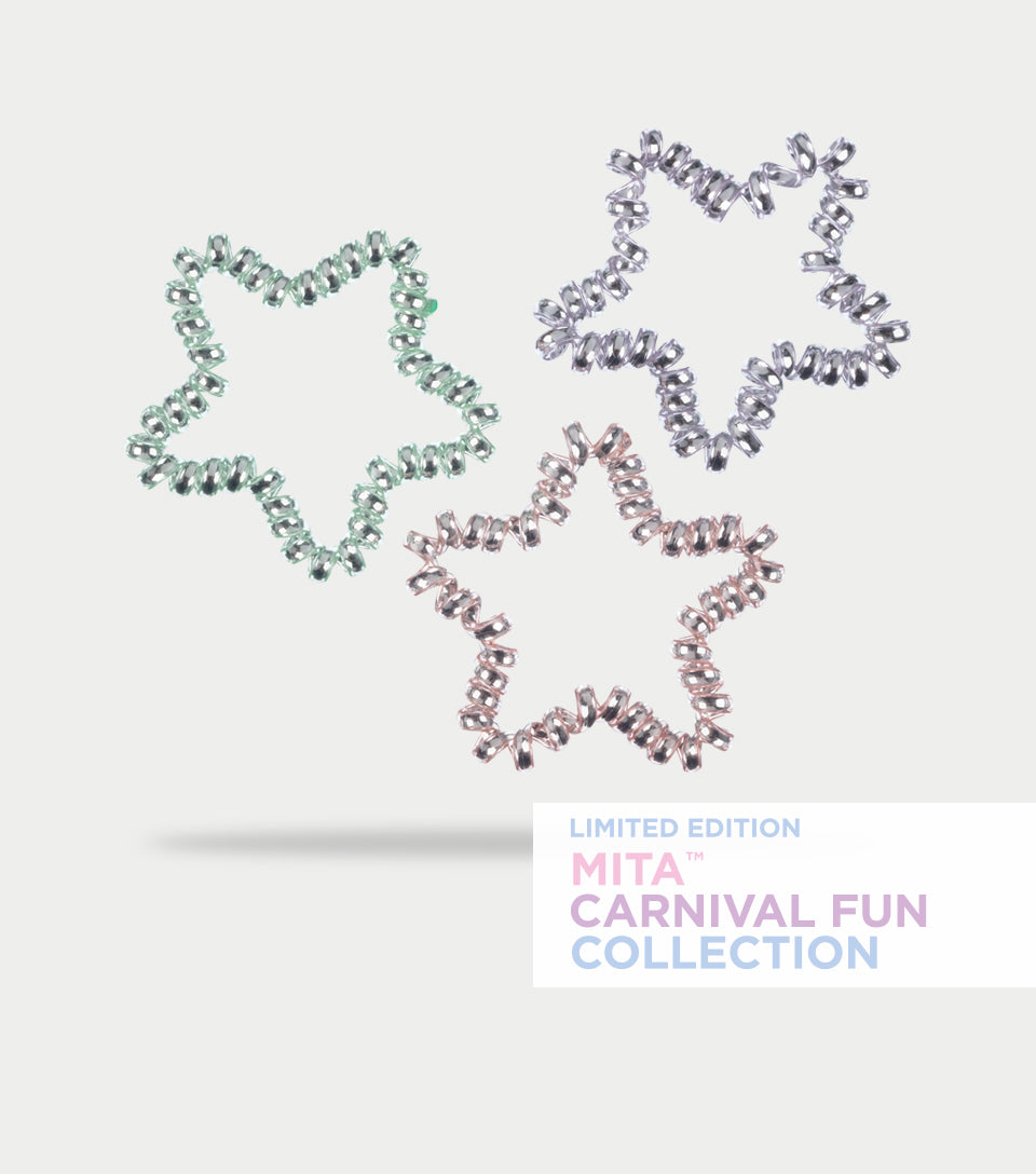 Carnival Fun Collection - Sparkly Star Spirals (Pack of 3)