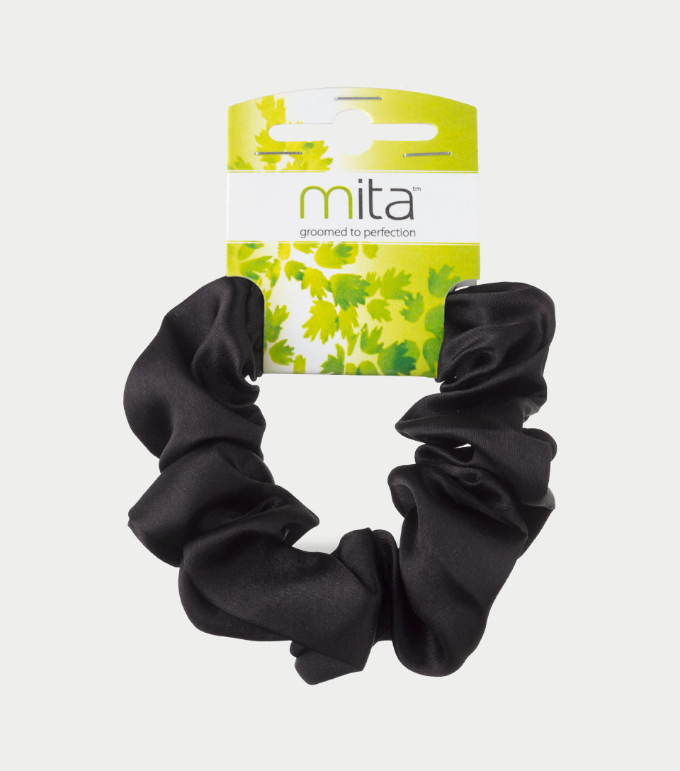 Scrunchie Satin Black