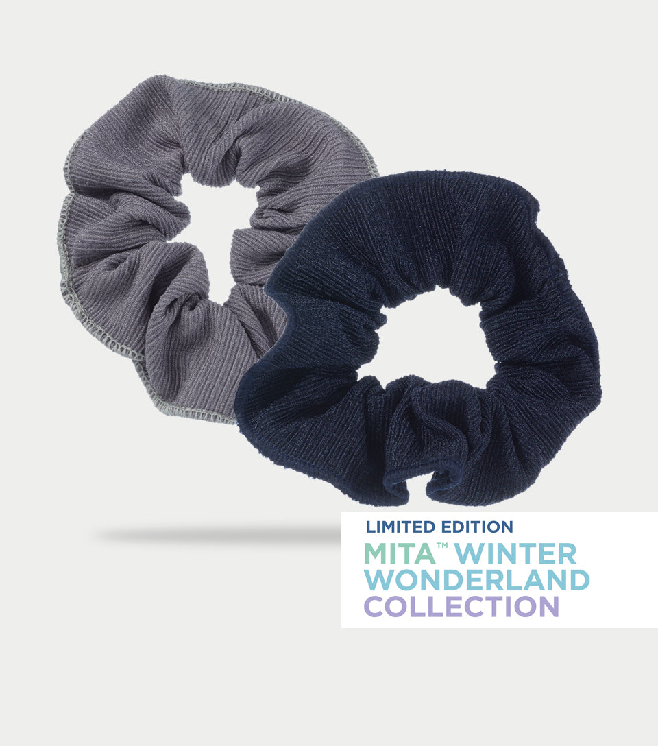 Winter Wonderland Collection - Cool Tone Scrunchies (Pack of 2)
