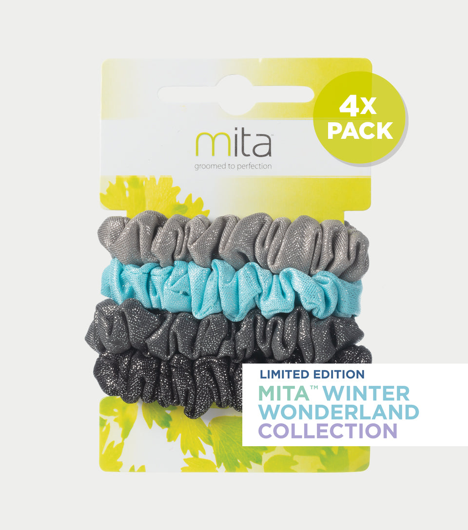 Winter Wonderland Collection - Snowy Scrunchies (Pack of 4)