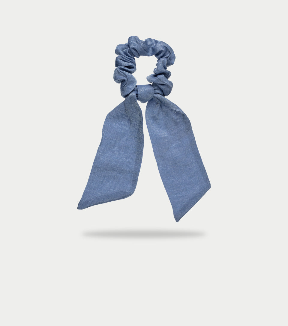 Blue Scrunchie Scarf