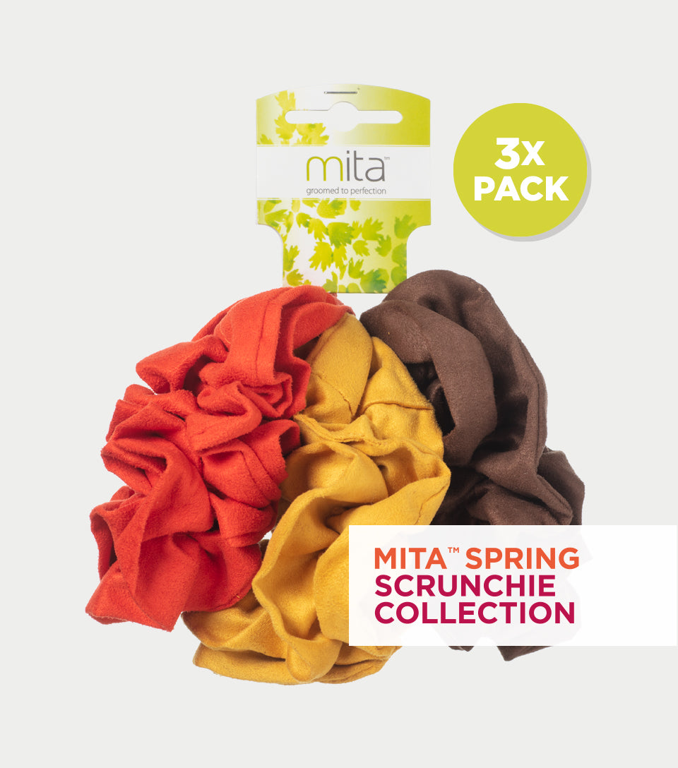 Spring Scrunchie Collection - Velvet Jumbo Scrunchie (Pack of 3)
