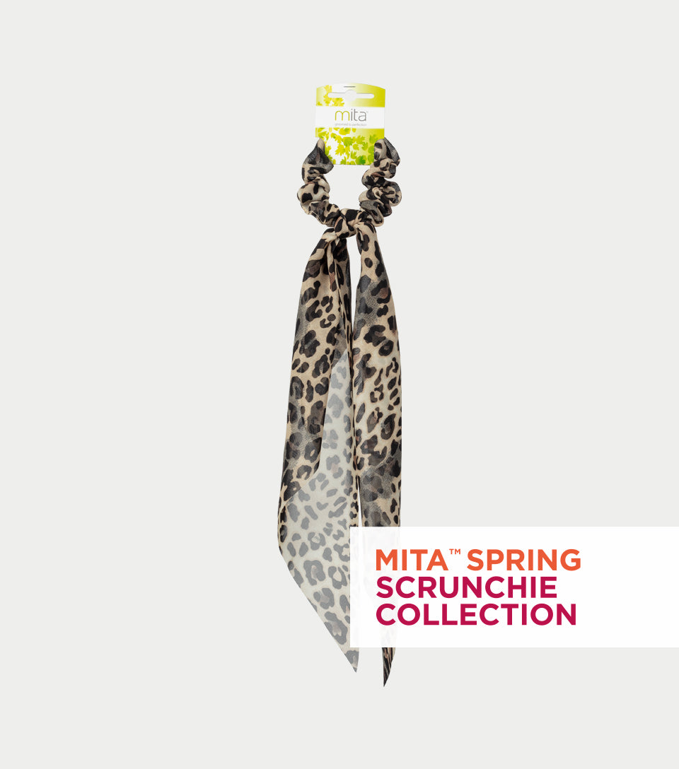 Spring Scrunchie Collection - Animal Print Scrunchie Scarf