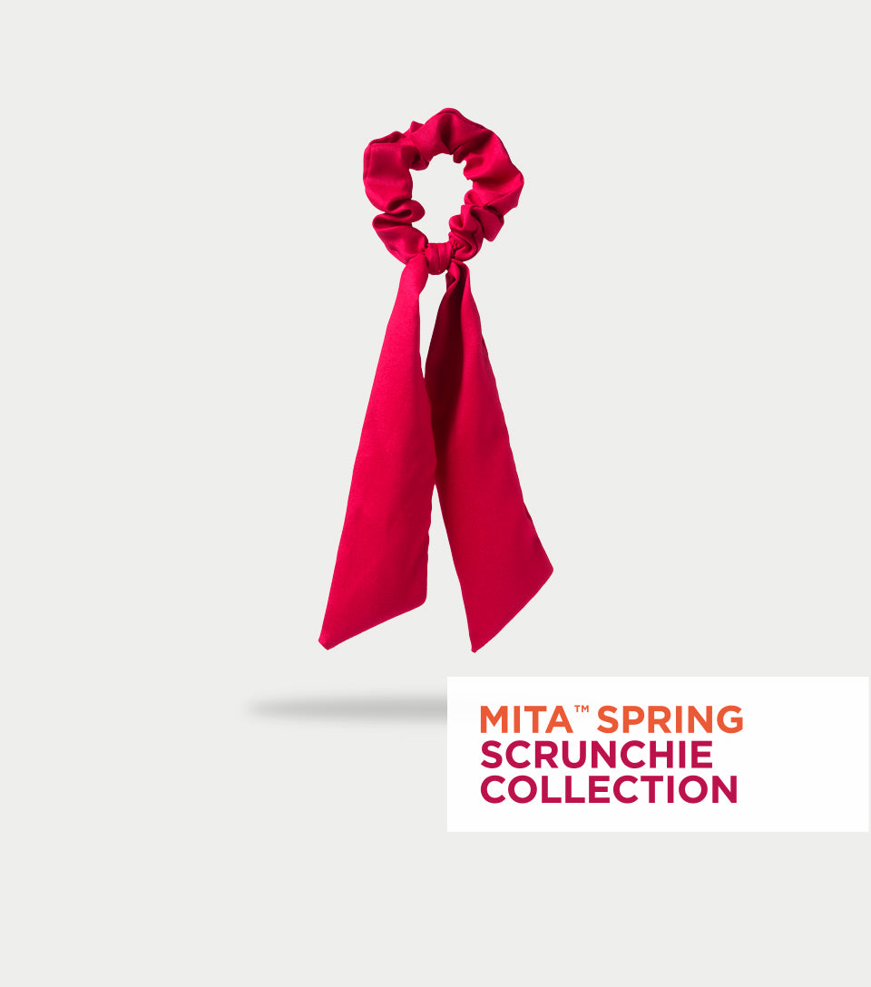 Spring Scrunchie Collection - Fiery Red Scrunchie Scarf