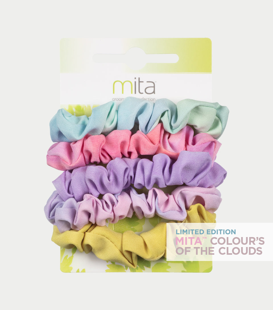 Colour's of the Clouds Collection - Tie Dye Mini Scrunchies (Pack of 5)