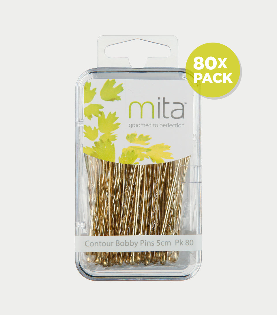 Bobby Pins Contour 5cm Blonde (Pack of 80)