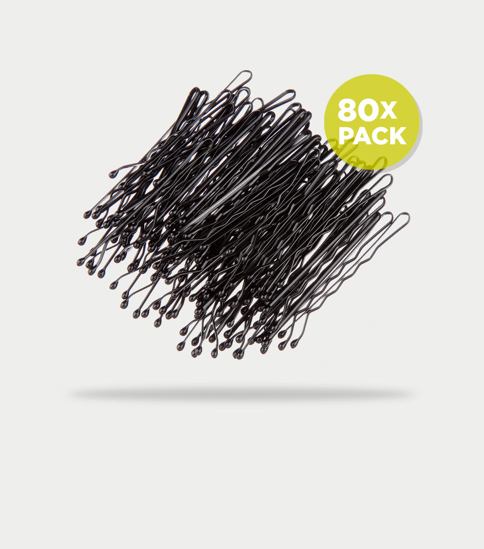 Bobby Pins Contour 5cm Black (Pack of 80)
