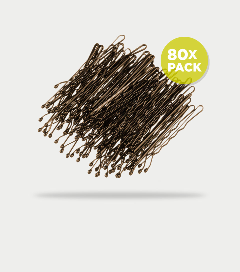 Bobby Pins Contour 5cm Brown (Pack of 80)