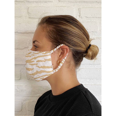 Le Tigre Cotton Linen Face Mask