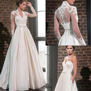 Elegant Sweetheart Satin Wedding Dress