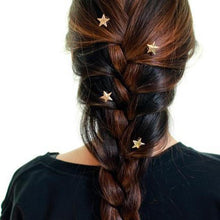 Load image into Gallery viewer, Gold Star Swirl Spiral Hairpin