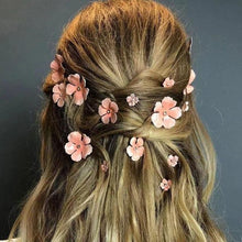 Load image into Gallery viewer, Pink Flower Hairpin