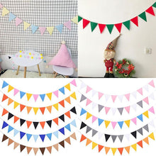 Load image into Gallery viewer, Fabric Garlands Colored Flag