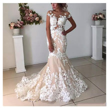 Load image into Gallery viewer, Champagne Mermaid Wedding Dresses
