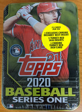 Load image into Gallery viewer, 2020 Topps Series 1 MLB Collectible Tin - 75 Cards Mike Trout Cover