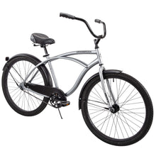 "Load image into Gallery viewer, Huffy 26"" Cranbrook Men's Beach Cruiser Comfort Bike, Silver"