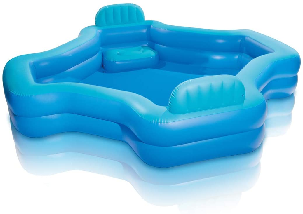 Intex Inflatable 2-Seat Swim Center Family Lounge Pool