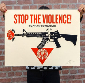 "OBEY GIANT ""STOP THE VIOLENCE!"" PARKLAND"