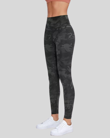 Hugs Black Camo Leggings