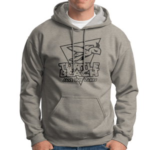 Turtle Beach Clothing grey mix save our lakes hoodie. Made in Canada 80% organic cotton