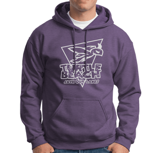 Turtle Beach Clothing purple sand  save our lakes hoodie. Made in Canada 80% organic cotton