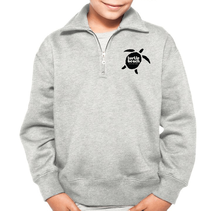 kids/youth Turtle Beach Clothing Grey polo 80% organic cotton Canadian made.