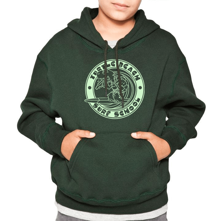 kids/youth Turtle Beach Clothing Turtle Beach Surf School hoodie in park green