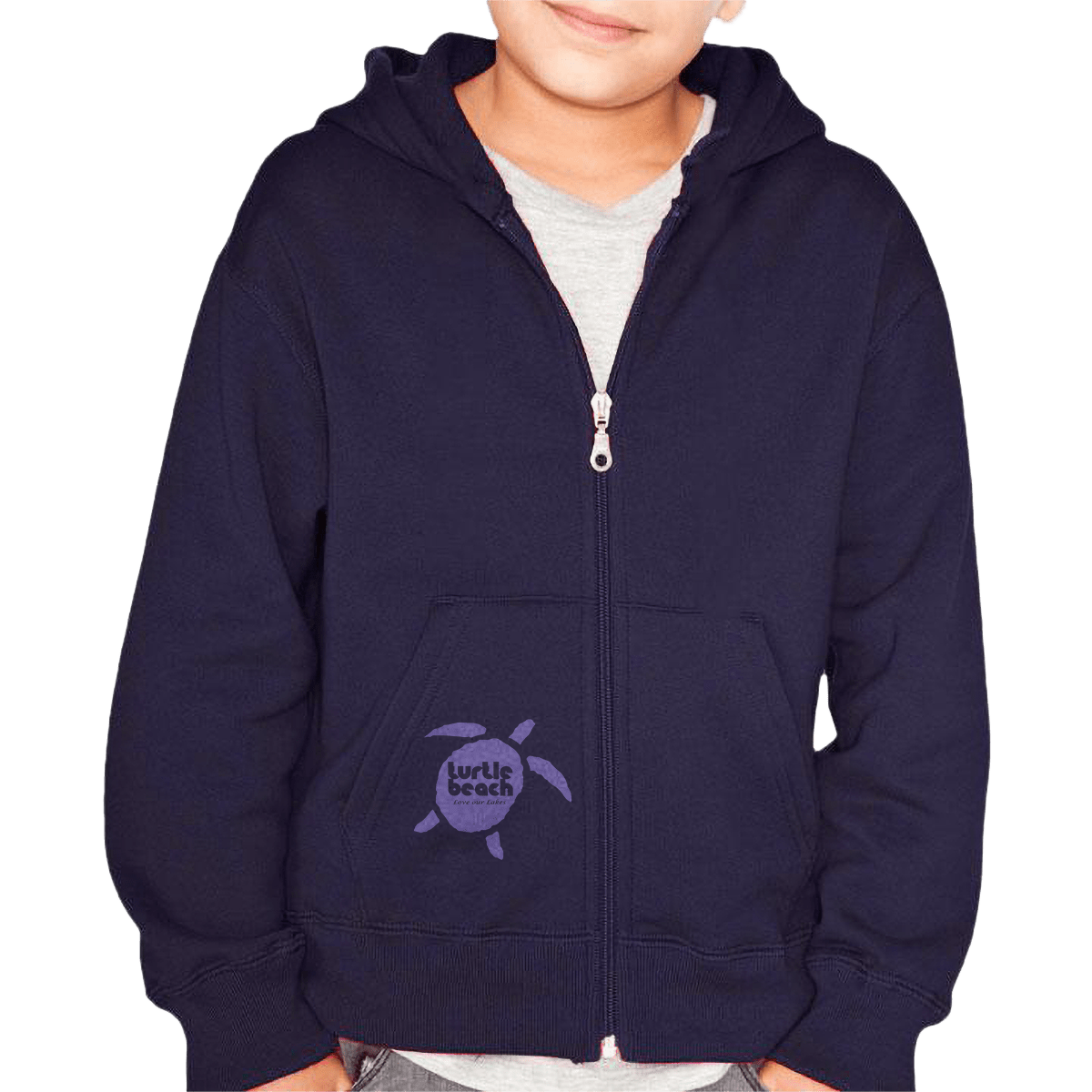 Turtle Beach Clothing purple love our lakes pocket logo, youth/kids