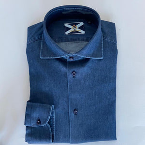 Johnny Lambs Camicia Manica Lunga Denim + Colori
