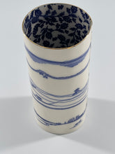 Load image into Gallery viewer, Cylindrical Porcelain Vase (Dorset Coast)