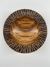 Load image into Gallery viewer, Textured Rim Oak Bowl