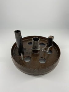 Barrow Wheel Candle Holder by Ed's Shed