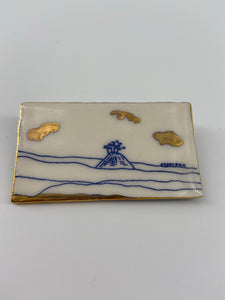 Rectangular Porcelain Brooch (Dorset Coast)