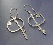 Load image into Gallery viewer, Silver Abstract Earrings