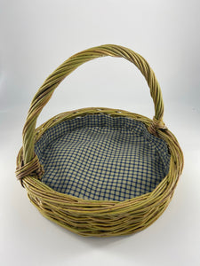 Gingham Lined Foraging Basket